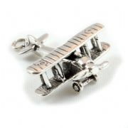 Biplane Vintage Aircraft / Aeroplane 3D Sterling Silver Charm